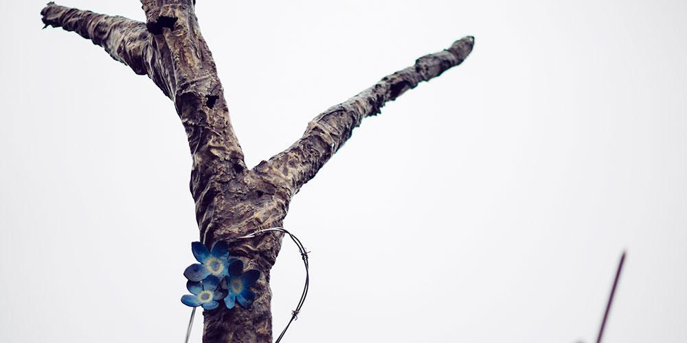 Danger Tree sculpture by Morgan MacDonald