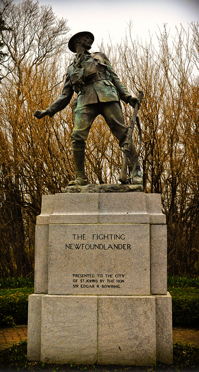 The Fighting Newfoundlander statue, Bowring Park