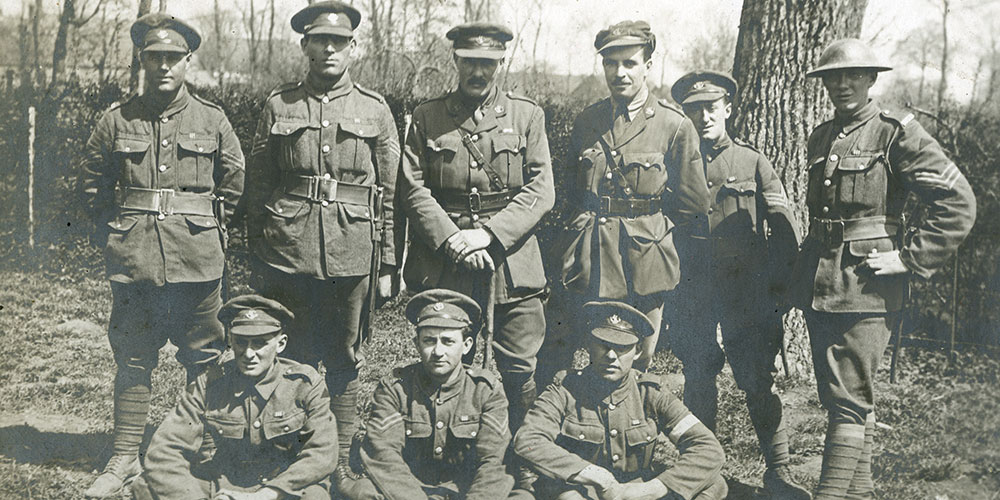 Nine soldiers from the Newfoundland Regiment that were part of the Monchy Ten