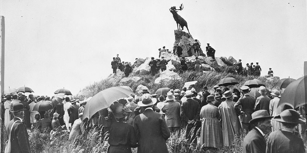 Opening of the Newfoundland Memorial Park, Beaumont-Hamel, France, 1925