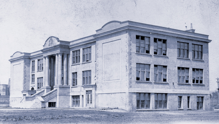 Memorial University's original campus, then Memorial University College, at Parade Street in St. John's, circa 1925
