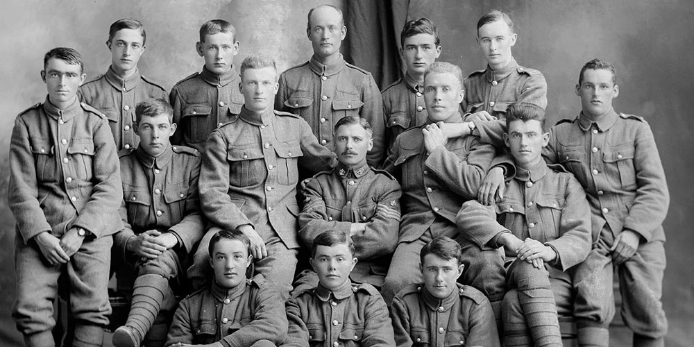 Soldiers of the Newfoundland Regiment