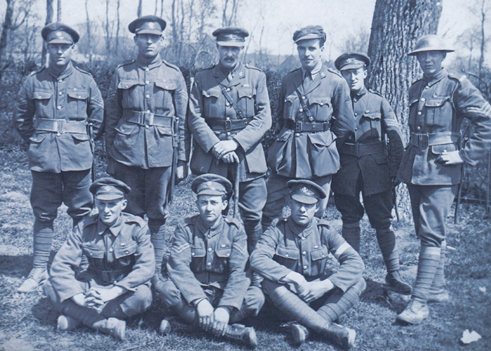 Nine soldiers from the Newfoundland Regiment that were part of the legendary Monchy Ten.