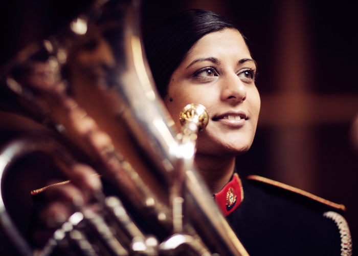 Neha Bhutani plays the euphonium in the Church Lads' Brigade band.
