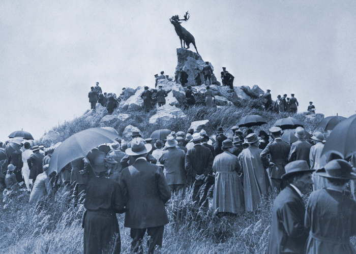 Opening of the Newfoundland Memorial Park, Beaumont-Hamel, France, 1925. PHOTO: NA 3106, The Rooms Provincial Archives Division