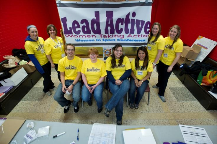Volunteers for the Lead Active conference