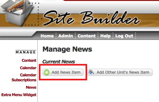 News widget | Site Builder User Guide | Memorial University of